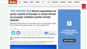 """""""Is the Party Over?"""" UK Press React to Thomas Cook's Report on Age Shift in Ibiza Bookings"""