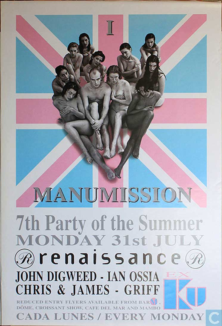 Ibiza Clubs Poster Art & Values from Ku & Manumission to Summin & More