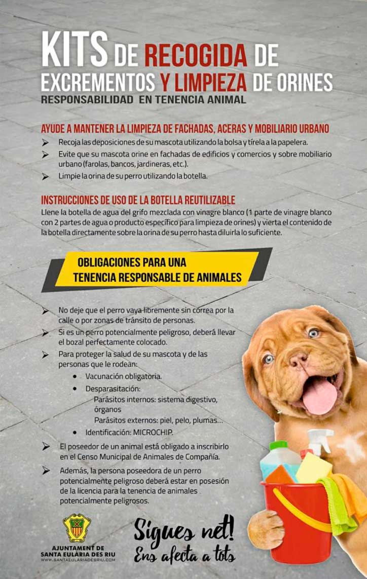Santa Eulalia Dog Owners have 'Obligation' to Clean Dog Urine