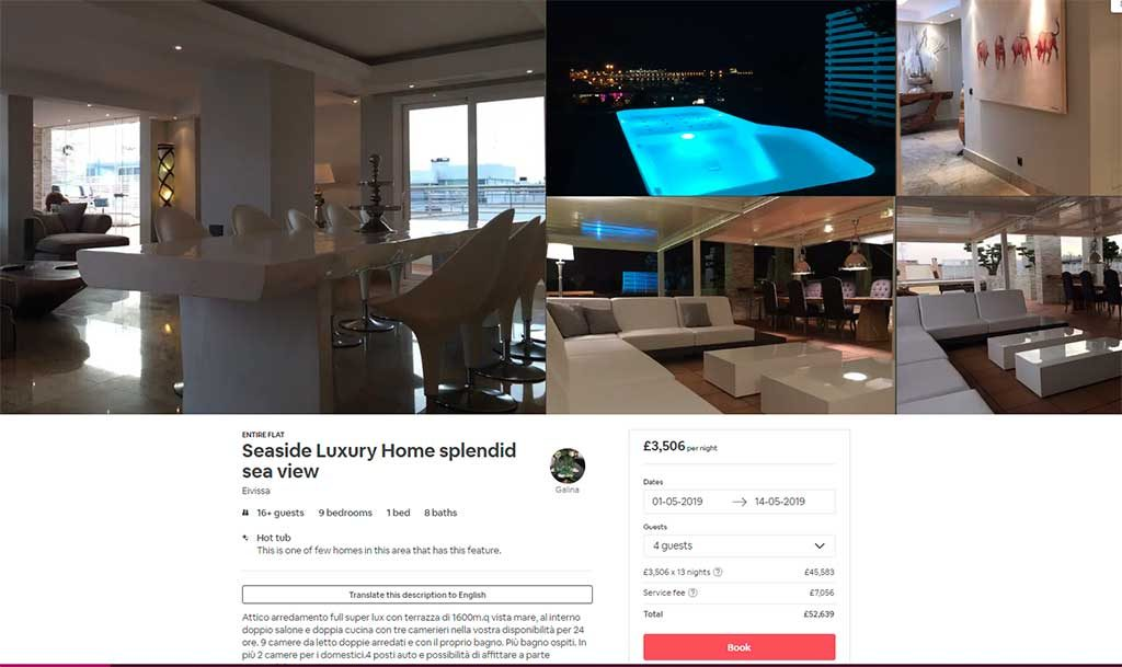 Ibiza News; 400,000€ Fine Does Not Stop Airbnb Advertising Illegal Rentals