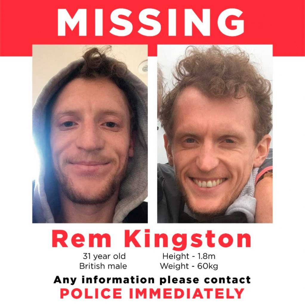 MISSING! Family Plea for Help Finding Ibiza Worker Rem Kingston, Missing from Ibiza Ferry