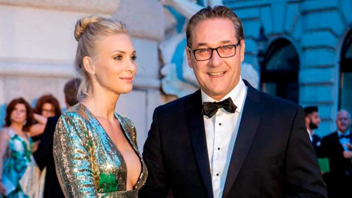 Heinz-Christian Strache, with his wife Philippa