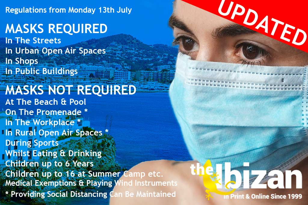 Ibiza Police Enforcing Mask Non-Compliance Fines of 100€