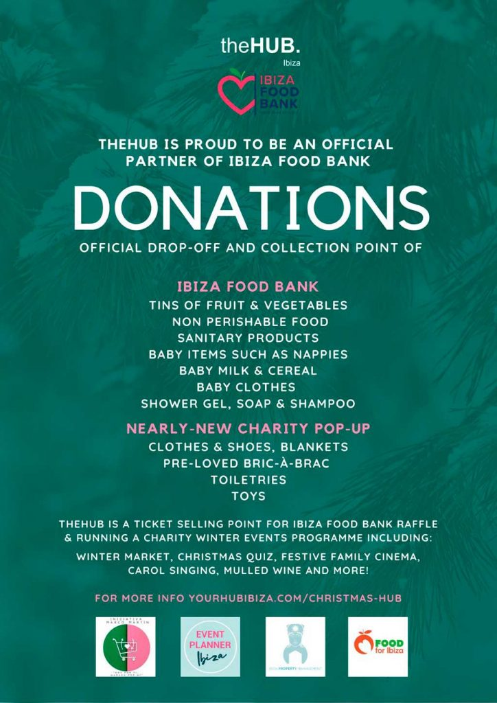 Ibiza Christmas Fundraisers & Foodbank Charities