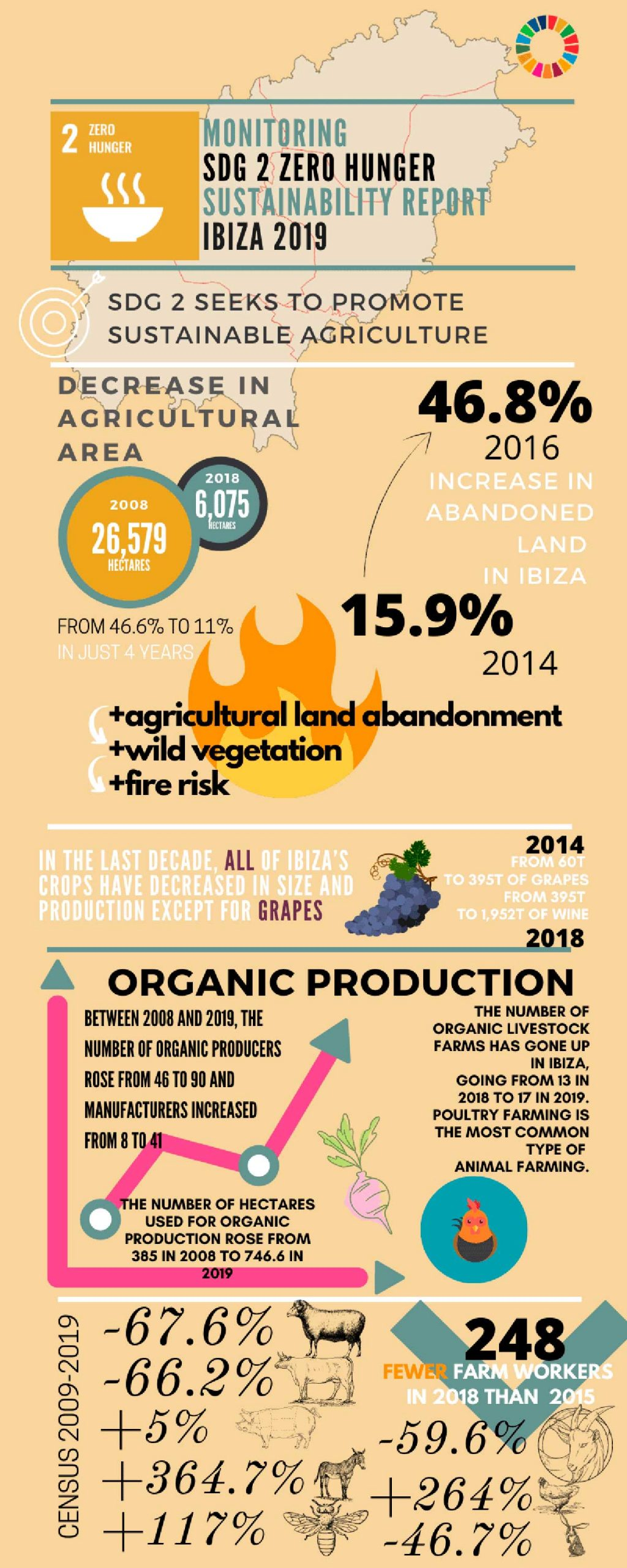 Ibiza Has Lost 77% of Its Agricultural Land in a Decade